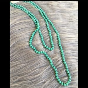 "Cute mint 60"" necklace"